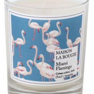 Bougie marque Maison la bougie- miami flamingo