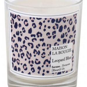 Bougie marque Maison la bougie -leopard blue